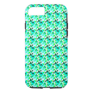 Hübsches Herz-Muster-bewegliches Fall-Grün iPhone 8/7 Hülle