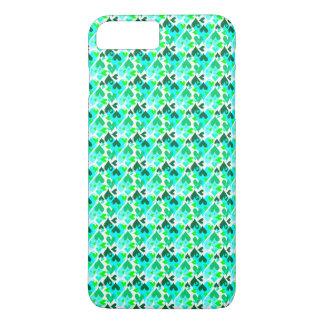 Hübsches Herz-Muster-bewegliches Fall-Grün iPhone 8 Plus/7 Plus Hülle
