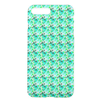 Hübsches Herz-Muster-Fall-Grün iPhone 8 Plus/7 Plus Hülle