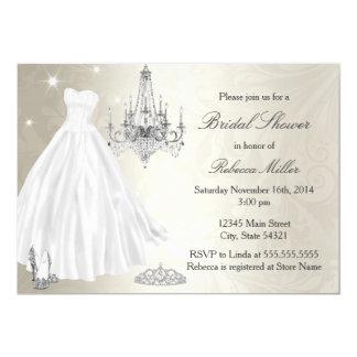 Hübsches Hochzeits-KleiderBrautparty-Creme-Weiß 12,7 X 17,8 Cm Einladungskarte