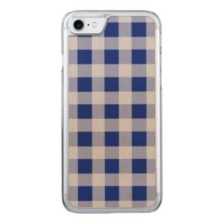 Hübsches königliches Blau-und Carved iPhone 7 Hülle