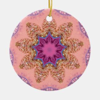 Hübsches Lavendel-Stern-Fraktal Keramik Ornament