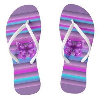 Hübsches Lila Flip Flops