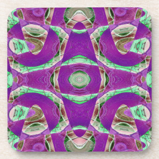 hübsches lila grünes abstraktes getränk untersetzer
