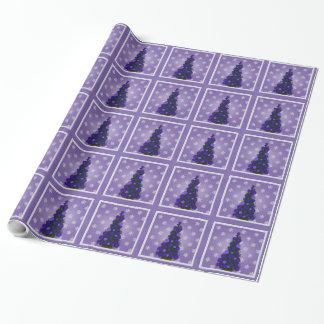 Hübsches lila Weihnachtsbaum-Verpackungs-Papier Geschenkpapier