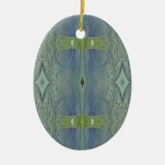 Hübsches Limones blaues künstlerisches Muster Keramik Ornament