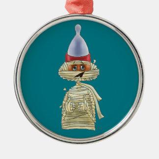 Hübsches Mummific Silbernes Ornament