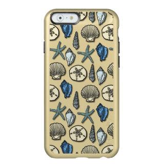 Hübsches Muschelstarfish-Seemuster Incipio Feather® Shine iPhone 6 Hülle
