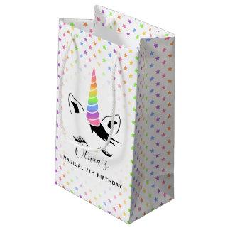 Hübsches Pastellunicorn-Geburtstags-Party Kleine Geschenktüte