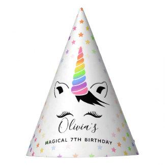 Hübsches Pastellunicorn-Geburtstags-Party Partyhütchen