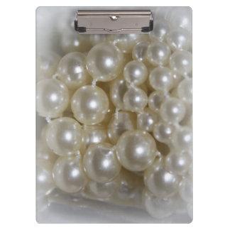 Hübsches Perlen-Zuhause-Büro Klemmbrett