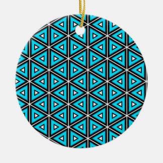 Hübsches quadratisches weißes, Schwarzes und Keramik Ornament