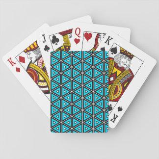 Hübsches quadratisches weißes, Schwarzes und Spielkarten