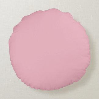 Hübsches rosa Blumen-Bild Rundes Kissen