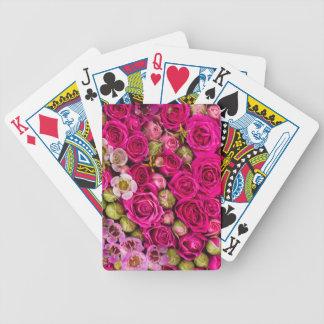 Hübsches rosa Blumenkartenstapeles Bicycle Spielkarten