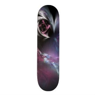 Hübsches rosa Rosen-Fraktal 20,1 Cm Skateboard Deck