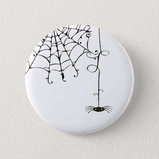 HÜBSCHES spiderweb Runder Button 5,7 Cm