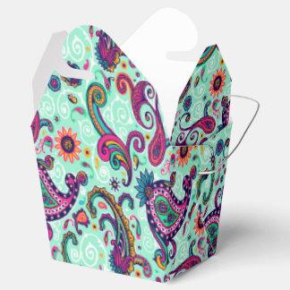 Hübsches tadelloses rosa Paisley-Böhme-Muster Geschenkkarton