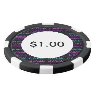 Hübsches Tri Farbiges Alabama Poker Chips Set
