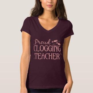 Hübsches verstopfenlehrer-hellrosa niedliches T-Shirt