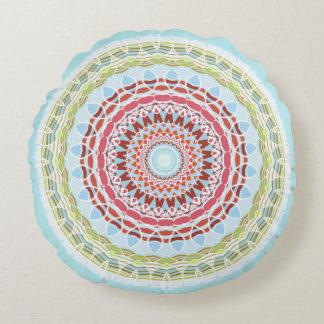 Hübsches vibrierendes buntes Mandala-Doppeltes Rundes Kissen