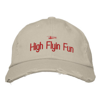 Hubschrauber gestickter Hut