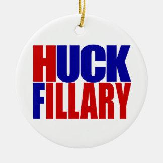 """""""HUCK FILLARY """" RUNDES KERAMIK ORNAMENT"""