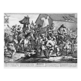 Hudibras trifft das Skimmington an Postkarte