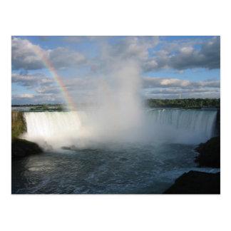 Hufeisen-Fälle und Regenbogen von der kanadischen Postkarte