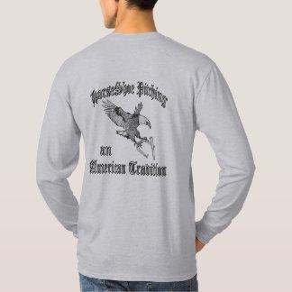 Hufeisen-grundlegender langer Hülsen-T - Shirt