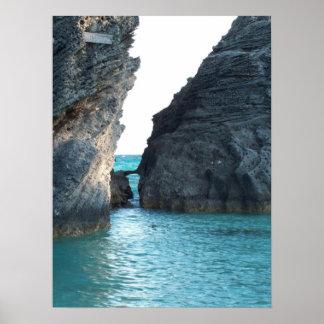 Hufeisenstrand Bermuda Poster