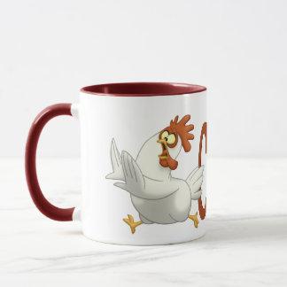 Huhn auf einer Tasse