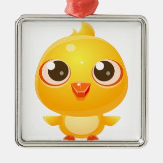 Huhn-Baby-Tier in der Girly süßen Art Silbernes Ornament