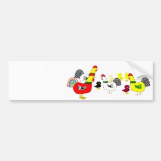 Huhn-Familie Autoaufkleber
