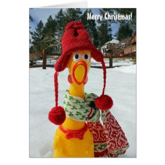 Huhn-frohe Weihnacht-Gruß-Karte! Karte