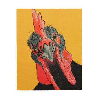 Huhn-hölzerner Druck