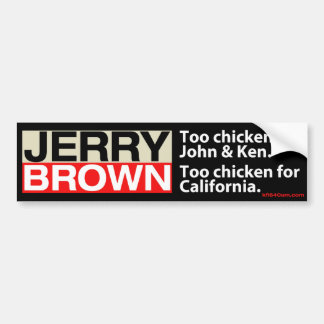 Huhn Jerry Brown Autoaufkleber