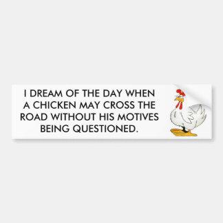 Huhn kann ohne die in Frage gestellten Motive kreu Autoaufkleber