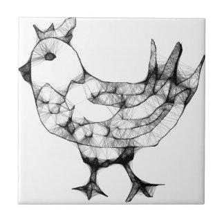 Huhn Kleine Quadratische Fliese