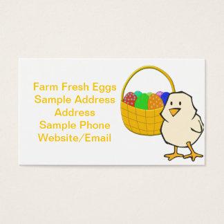 Huhn mit Ostern-Korb Visitenkarte