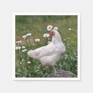 Huhn mit Podien Serviette