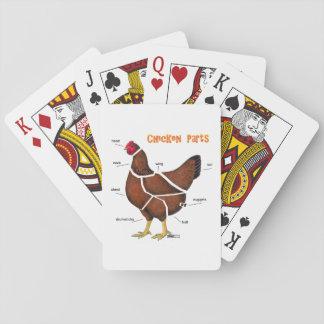 Huhn-Teile Spielkarten