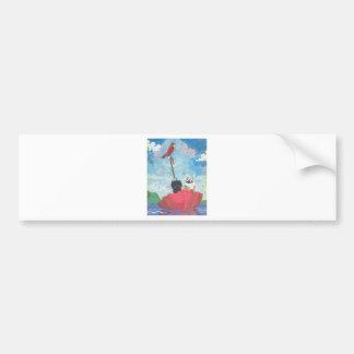 Huhn-und Kricket-Collage Autoaufkleber