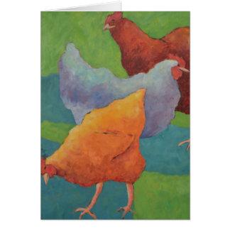 Hühner Grußkarte