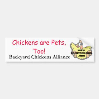 Hühner sind Haustiere, auch! Autoaufkleber