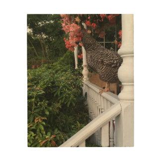Huhnwandkunst Holzdruck
