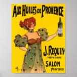 Huile d'olive vintage d'étiquette de Français de Poster