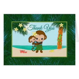 Hula Affe JUNGE Babyparty danken Ihnen Karte