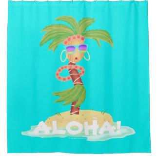 Hula Palmen-Duschvorhang/Hintergrund Duschvorhang