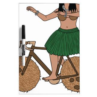 Hula Tänzer-Reitfahrrad mit Kokosnuss-Rädern Trockenlöschtafel